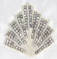 Silver Beaded Patches
