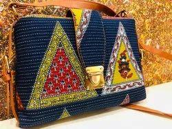Multicolor Cotton Ikkat Bags, Size: 9