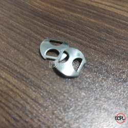 Mild Steel D Shape Thumb Buckles Nickel