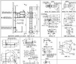 Steel ladder drawings