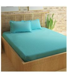 Fitted Blue Bed Sheet