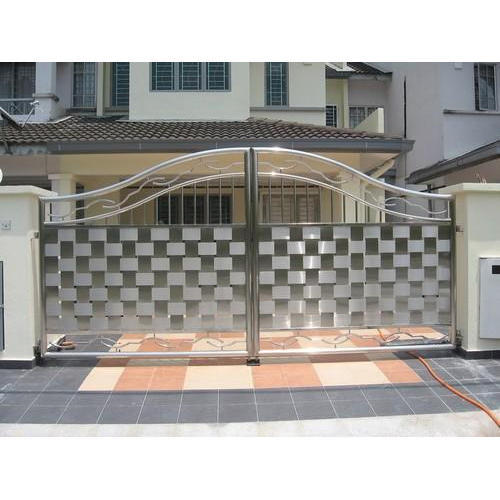 Silver 304 Grade Stainless Steel Main Gate Rs 1050 Square Feet