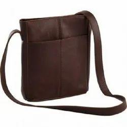Leather Sling Messenger Bag