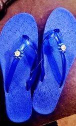 PVC Blue Rainbow Fancy Ladies Slipper, Size: 4-8 Number