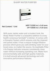 White Plastic Aqua Sharp Water Purifier, For Home, Capacity: 8 L