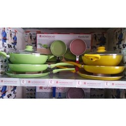 Aluminium Color Coated Wonder Chef Cookware Set, For Kitchen