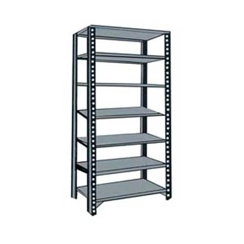 Industrial Slotted Angle Rack 7 Shelves, 8 Feet, Load Capacity 700kg, Plank  15 X 36 Inch