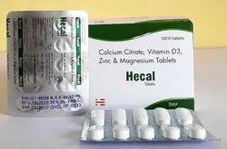 Calcium Citrate, Vitamin D3, Zinc & Magnesium Tablet
