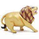 Wooden Lion Walking Wp070  Statue
