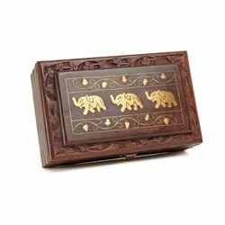 Rectangular Wood Wooden Jewellery Storage Box