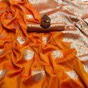 Indian Lichi Silk With Zari Saree