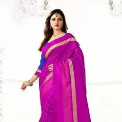 Zari Border Work Saree