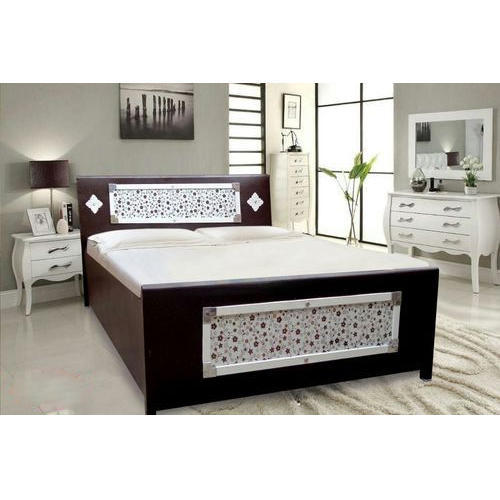 Box Bedroom Furniture Ideas: H 36 X W 63 X D 86 Brown And White Designer Box Bed, Rs