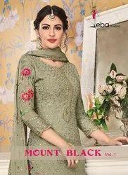 Eba Lifestyle Mount Black Vol-1 Straight Salwar Kameez