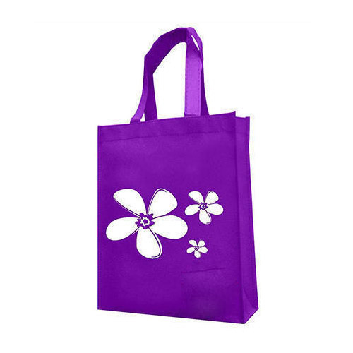 Purple Printed Non Woven Carry Bag