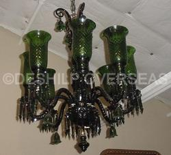 Acc To Standard Contemporary And Traditional Green Chandelier