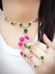 Diamond Party Wear Necklace