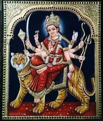 Durgai Amman Tanjore Painting