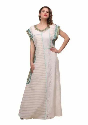 21ee931cc16 Abaya Long Dresses - Beige And Printed Maxi Dress Abaya Manufacturer from  Noida
