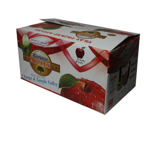 White Printed Apple Paper Packaging Box