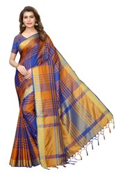 New Design In Cotton Silk  Saree
