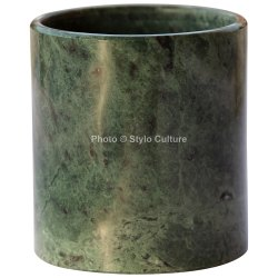 Premium 2.75 Inch Decorative Vase Green Marble Handmade