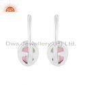 Bio Tourmaline Gemstone Designer Fine Silver Hook Earring Jewelry