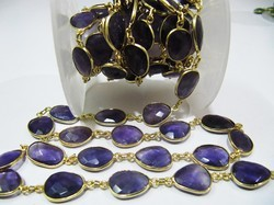 AAA Quality Natural Amethyst Connector Chain.