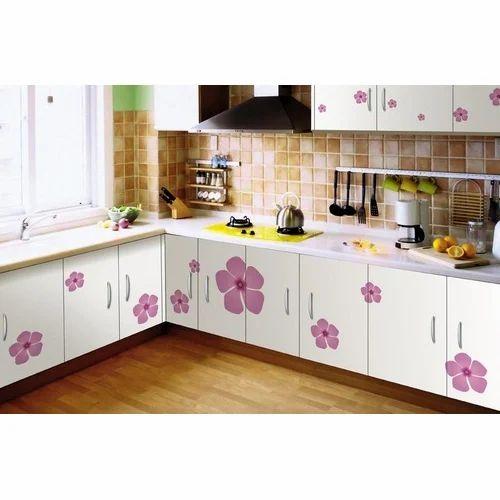 Pvc Printed Modular Kitchen