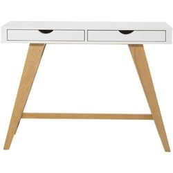 White And Oak Console Table