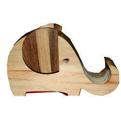 Wooden Pen Stand-Elephant