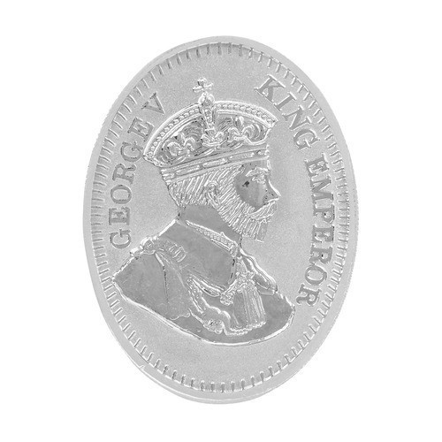 Antique King Oval Silver Coin 20gm