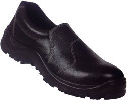 Leather Black Safety Shoes with Anti-static, Non-Metal Composite Midsole, Steel Midsole,Oil Resistat