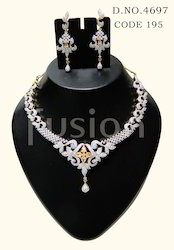 American Diamond Designer Necklace Set