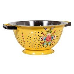 Hand Painted SS Enamelware Colander