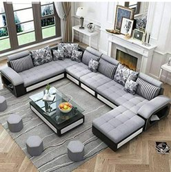U Shape Designer Sofa Set With Center Table