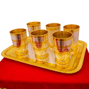 Designer Gold Plated Water Glass Set