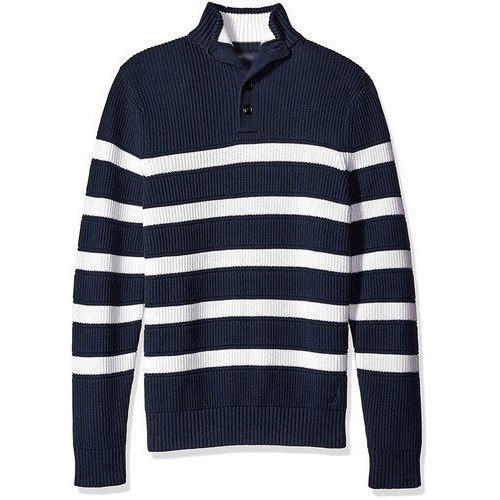 accae4a0f Wool Collar Neck Mens Striped Sweater