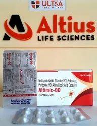 gMethylcobalamin 1000mcg Alpha Lipoic 100mg Thiamine Folic Acid 1.5mg Pyridoxine Hcl 3mg