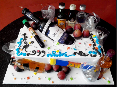 Amazing Alcoholic Lover Cake At Rs 6720 Kilogram Gaurav Path Bhilwara Funny Birthday Cards Online Necthendildamsfinfo