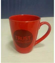 Ceramic Red Milk Mug