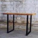 Bar Furniture - Wooden Bar Table With Metal Legs - Indian Rustic Furniture - Restaurant & Pub Tables