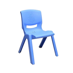 Sky Blue Kids Plastic Chair Age 4 To 8 Year