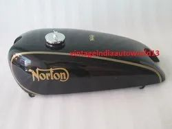 New Norton Model 18 Black Painted Petrol Tank 1930''''s (Reproduction)  With Fuel Cap