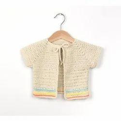 Cotton,Woolen Crochet Baby Sweater