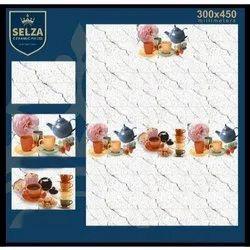 Ceramic Selza Stylish Kitchen Tiles, Size: 300*450 mm, Thickness: 5-10 mm