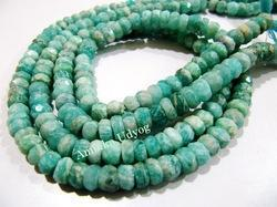 Natural Amazonite Rondelle Faceted Beads