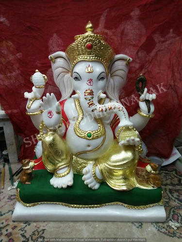 Multicolor Polished Marble Ganesha Idol Rs 20000 Piece Shree