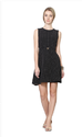 Polyester Dots Van Heusen Black Dress