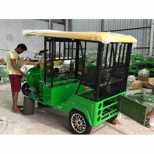 Green Passenger E Rickshaw, Vehicle Capacity: 5